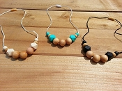 Between You and Me Simple Chunky Wood Necklace