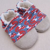 Snow and Arrow Cotton Knit Slippers