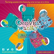 GroVia One-Size All-in-One Cloth Diaper - Wacky Collection