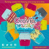 GroVia Hybrid Hook & Loop Shell - Wacky Collection