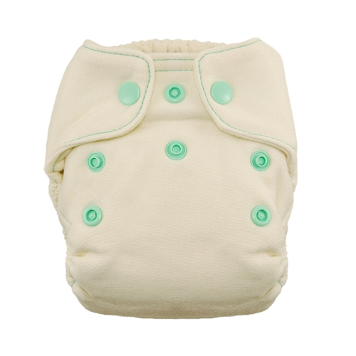 Thirsties Natural Fitted Cloth Diaper Newborn Thirsties