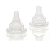 Mii Feeding Bottle True Transition Nipples - 2 Pack