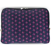 Yumbox Navy Poche with Bird Print