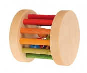 *Grimm's Rainbow Colour Mini Rolling Wheel with Bells