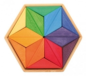 *Grimm's Mini Creative Puzzle - Complementary Colour Star 18 Pieces
