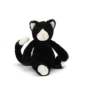 *Jellycat Bashful Black & White Kitten - Medium 12