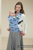 LennyLamb Ergonomic Wrap Conversion Carrier - Baby - Blue Tworoos