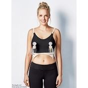 *Bravado Clip and Pump Hands-Free Nursing Bra Accessory - Black