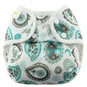 Blueberry Mini Coverall Cloth Diaper Cover - Snap - NEWBORN