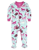 Hatley Ponies & Peonies Footed Coverall