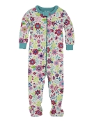 Hatley Wallpaper Flowers Footed Coverall