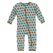 KicKee Pants Fitted Coverall - Glacier Cookie (ZIPPER)