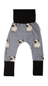 Coton Vanille Harem Maxaloone Pants - Gustave the Pug