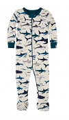 Hatley Toothy Sharks Footed Coverall