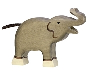*Holztiger Trunk Raised Small Elephant
