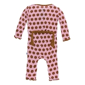 KicKee Pants Muffin Ruffle Coverall - Lotus Cookies (ZIPPER)