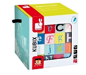 *Janod Kubix - 40 Letters + Numbers Blocks