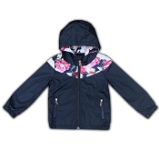 L&P Apparel Lined Outerwear Jacket - Black & Flower