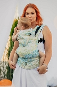 LennyLamb Ergonomic Wrap Conversion Carrier - Baby - Lemonade