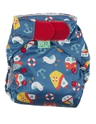 Frugi TotsBots Easy Fit V4 One-Size All-in-One Cloth Diaper - Hook & Loop