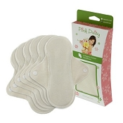 Pink Daisy Organic Cotton Pantyliners (Velour Top) - 6 Pack