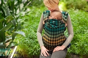 LennyLamb Ergonomic Wrap Conversion Carrier - Toddler - Pepitka (Green & Yellow)