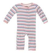 KicKee Pants Fitted Coverall - Girl Salty Sea Stripe