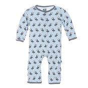KicKee Pants Fitted Coverall - Pond Puffin