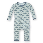 KicKee Pants Fitted Coverall - Aloe Armadillo