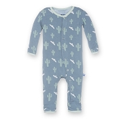 KicKee Pants Fitted Coverall - Dusty Sky Cactus