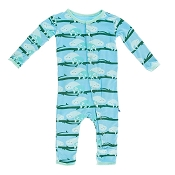 KicKee Pants Fitted Coverall - Confetti Sloth