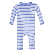 KicKee Pants Fitted Coverall - Girl Tropical Stripe