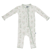 KicKee Pants Fitted Ruffle Coverall - Natural Cactus