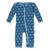 KicKee Pants Fitted Coverall - Twilight Fishbowl (ZIPPER)