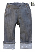 Project Pomona Eco Fit Little Hipsters Stretch Denim Jeans with Dragon King Accent Cuff