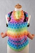 LennyLamb Ergonomic Wrap Conversion Carrier - Baby - Rainbow Stars