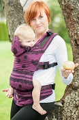 LennyLamb Ergonomic Wrap Conversion Carrier - Baby - Romantic Lace Reverse