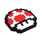 *Bumkins Nintendo Silicone Teether - 8-bit Red Mushroom