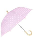 Hatley Children's Umbrella - Pink with White Polka Dots