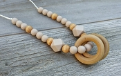 Between You and Me Wood Rings Necklace - Birch