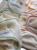 sustainablebabyish Velour Happy Little Clouds Fitted Cloth Diapers