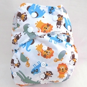 KaWaii Premium Label Organic Green Baby Bamboo One-Size Cloth Diaper
