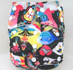 KaWaii Cross-Over Squared Tab Snap One-Size Cloth Diaper