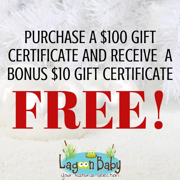 Lagoon Baby 12 Days of Christmas - Gift Certificate Gift with Purchase!