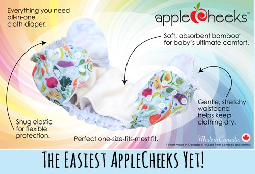 AppleCheeks One Size All-in-One Infographic - Lagoon Baby Blog