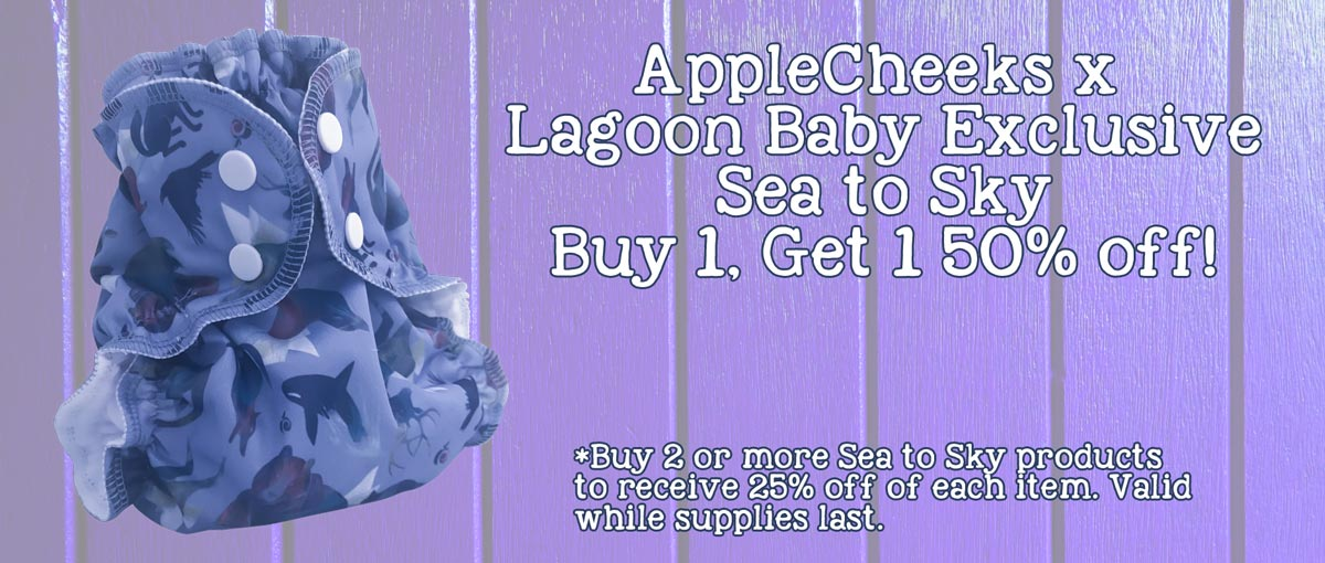 AppleCheeks x Lagoon Baby Exclusive Sea to Sky - Buy More and SAVE!