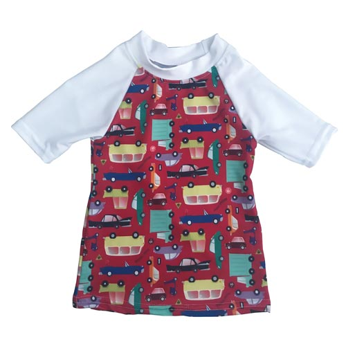 AppleCheeks Swim Shirt - I Car! *CLEARANCE*