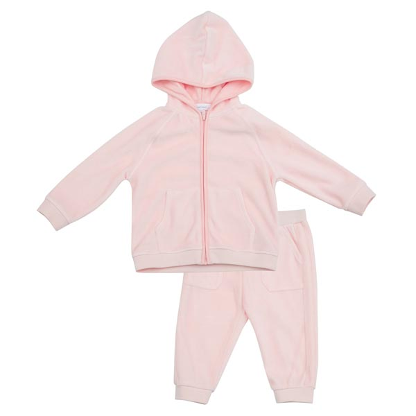 Angel Dear Velour Jogging Set - Pink