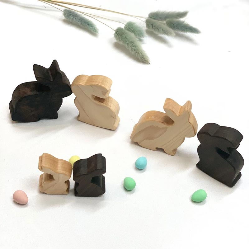 *AW + Co Wooden Toy Bunnies