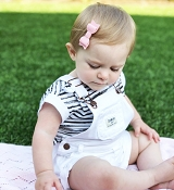 *Baby Wisp Mini Latch - Mini Leather Bow